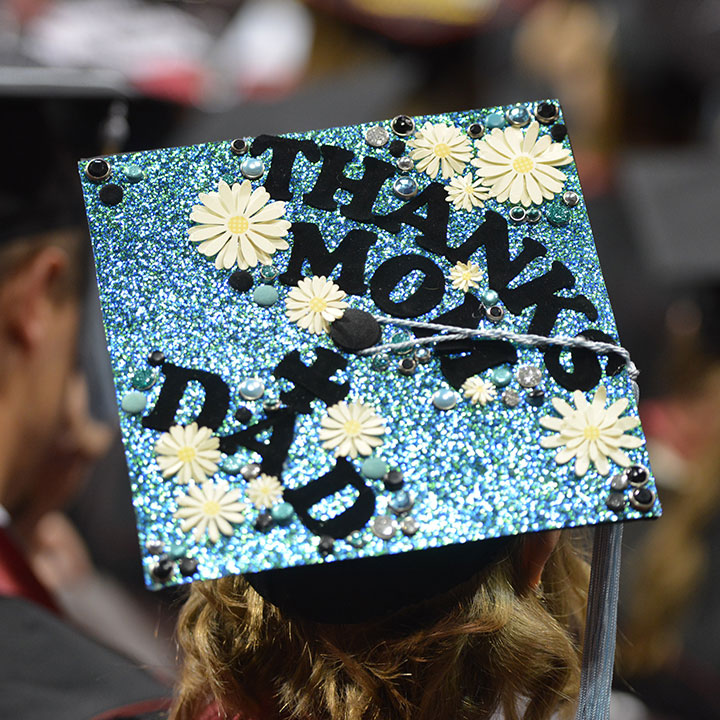 Decorated Grad Cap